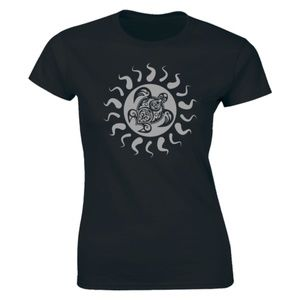 Half It Tops - Tribal Hawaii Polynesian Maori Sun Sea T-shirt Tee
